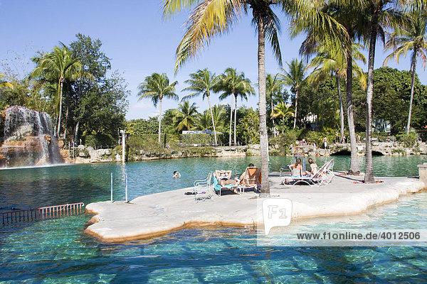 Freibad Venetian Pools in Coral Gables  Miami  Florida  USA