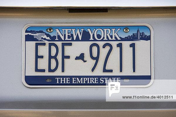 kfz kennzeichen nummernschild vom bundesstaat new york. Black Bedroom Furniture Sets. Home Design Ideas