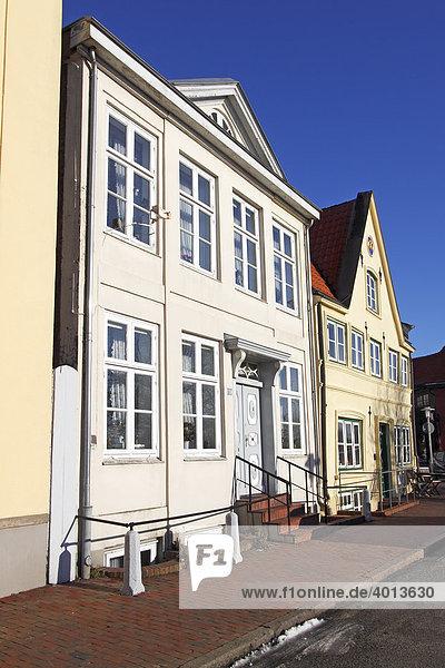 Historische Häuser in der Altstadt von Glückstadt  Am Hafen  Schleswig-Holstein  Deutschland
