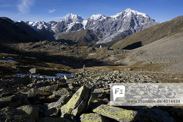 Ortlergruppe  Nationalpark Stilfserjoch  Südtirol  Italien  Europa