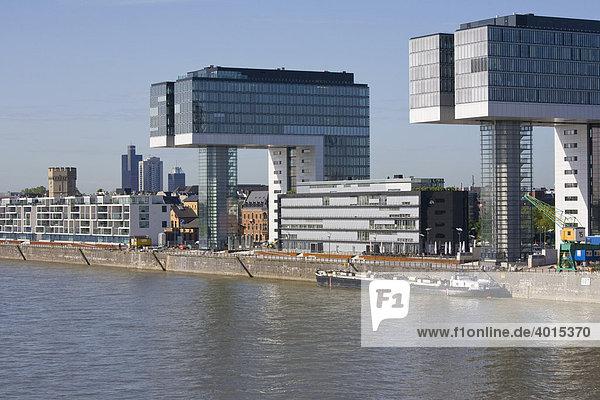 Bürogebäude, Wohnhäuser, Moderne Architektur, Rheinauhafen,  Rheinauhalbinsel, Rhein, Köln, Nordrhein
