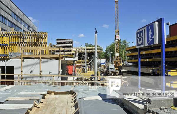 Neubau Südpavillion Hauptbahnhof Essen  Nordrhein-Westfalen  Deutschland  Europa
