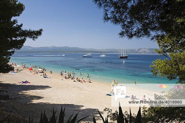 Zlatni Rat Beach  Bol  Brac Island  Dalmatia  Croatia  Adriatic Sea  Mediterranean  Europe