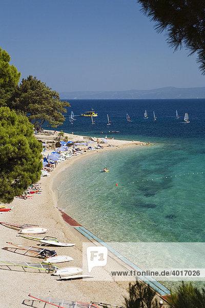 Bol Beach  Brac Island  Dalmatia  Croatia  Adriatic Sea  Mediterranean  Europe