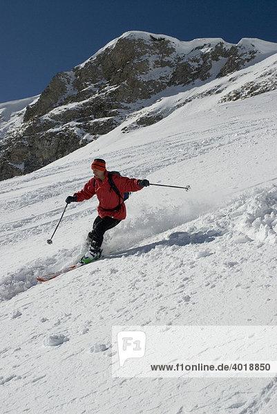 Skifahren  Nationalpark Gesäuse  Steiermark  Österreich  Europa