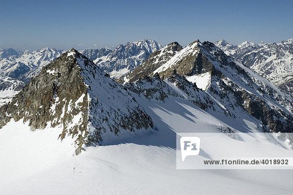 Goldberg  3073m  am Gletscher in Kolm Saigurn  Nationalpark Hohe Tauern  Salzburg  Österreich  Europa