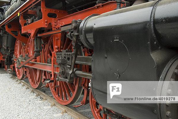Antriebsräder einer Dampflokomotive  Ampflwang  Oberösterreich  Österreich  Europa