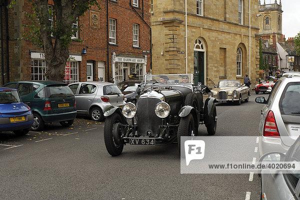 Oldtimer-Rallye in Woodstock  Oxfordshire  England  Großbritannien  Europa