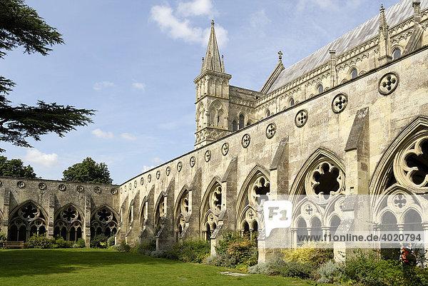 Kathedrale von Salisbury  Südengland  England  Vereinigtes Königreich  Europa