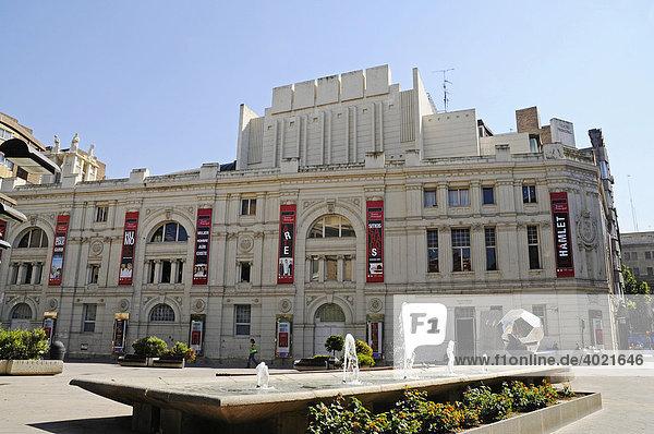 Stadttheater  Zaragoza  Saragossa  Aragon  Kastilien  Spanien  Europa