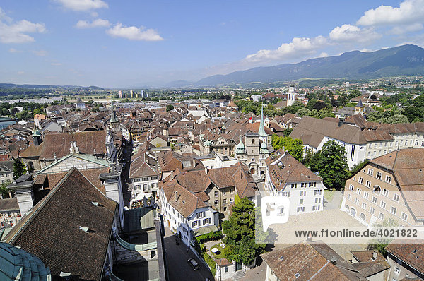 View of the city  historic district  Solothurn  Switzerland  Europe