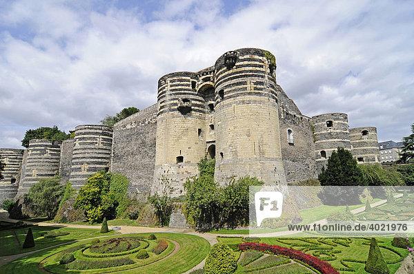 Chateau  Schloss  Burg  Angers  Pays de la Loire  Frankreich  Europa