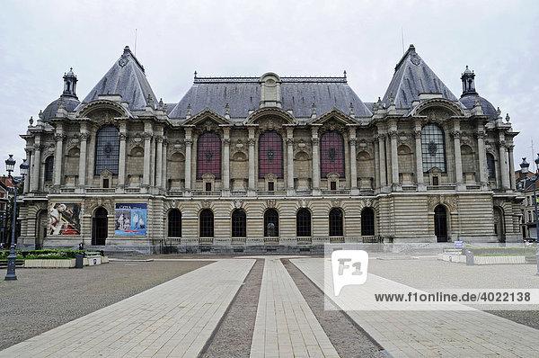 Platz  Place de la Republique  Palais des Beaux Arts  Museum der schönen Künste  Lille  Nord Pas de Calais  Frankreich  Europa