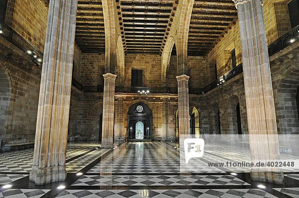 Eingangshalle  Salon  Palacio de la Llotja de Mar  ehemalige Handelsbörse  Barcelona  Katalonien  Spanien  Europa