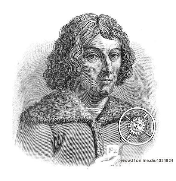 Holzschnitt  Nikolaus Kopernikus  Portrait