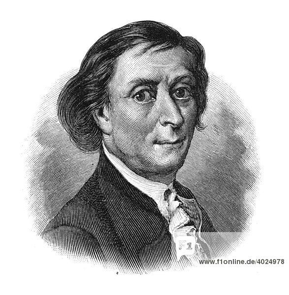 Holzschnitt  Franz Carl Achard  Portrait
