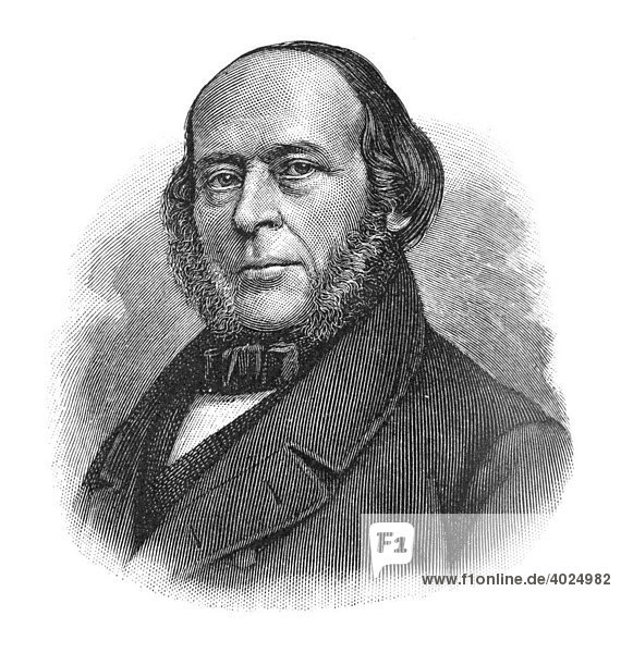Holzschnitt  John Ericsson  Portrait
