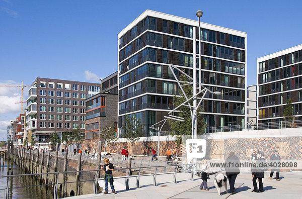 Neue Büro- und Wohngebäude am Kaiserkai  Hafencity  Hafen City  Hamburg  Deutschland  Europa