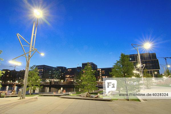 Die Marco Polo Terrassen in der Hafencity von Hamburg  Deutschland  Europa
