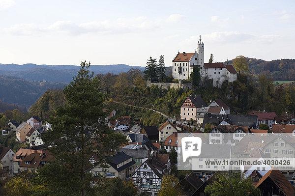 Burg Gößweinstein  Fränkische Schweiz  Franken  Bayern  Deutschland  Europa
