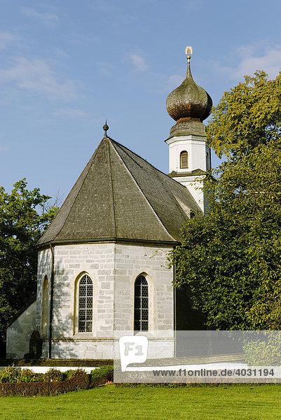 Filialkirche St. Maria  Seeon  Chiemgau  Oberbayern  Bayern  Deutschland  Europa