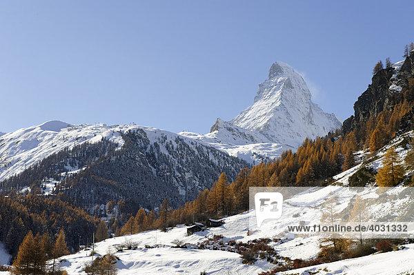 Matterhorn  Zermatt  Wallis  Schweiz  Europa