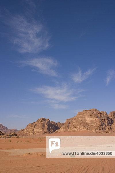 Wadi Rum  Jordanien  Südwest Asien