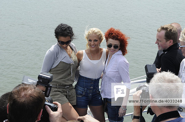 ESC Eurovision Song Contest  Belgrad by Boat  girlband No Angels enjoyed two hours with journalists on the rivers Save and Danube  Belgrade  Serbia  Europe