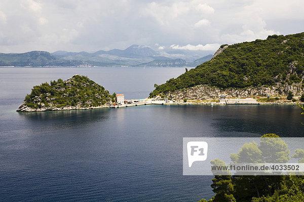 Fährhafen von Sobra  Insel Mljet  Dubrovnik-Neretva  Dalmatien  Kroatien  Europa