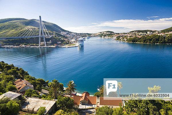 Hafen von Dubrovnik  Ragusa  Dubrovnik-Neretva  Dalmatien  Kroatien  Europa