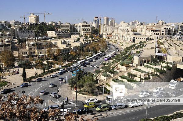 Blick von der Zitadelle über die Neustadt von Jerusalem  Israel  Naher Osten  Orient
