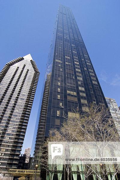 Trump Tower in der Nähe des United Nations Gebäude in New York  USA