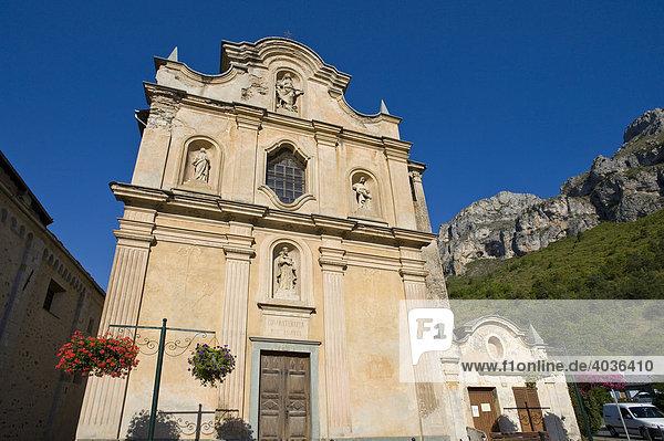 Eglise Notre-Dame des Fontaines  La Brigue  Provence-Cotes-des-Alpes-d'Azur  Frankreich  Europa