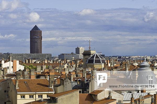Stadtpanorama von Lyon  Frankreich