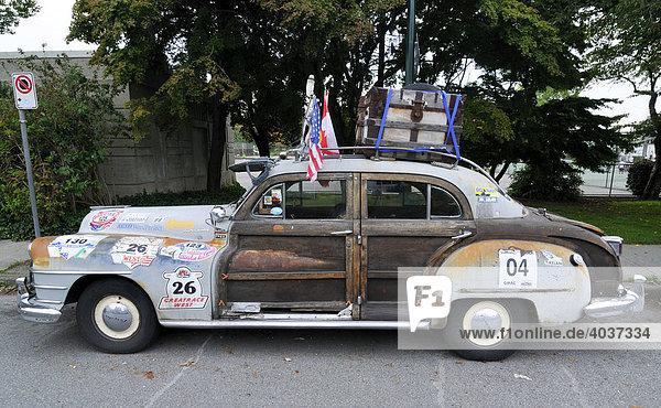 Kurioses Auto  Vancouver  British Columbia  Kanada  Nordamerika