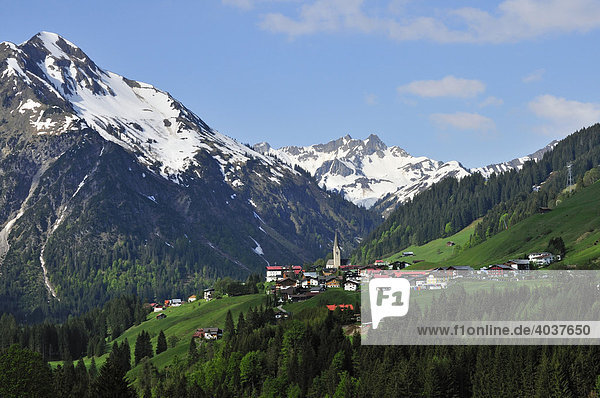 Mittelberg  Kleinwalsertal  Vorarlberg  Österreich  Europa