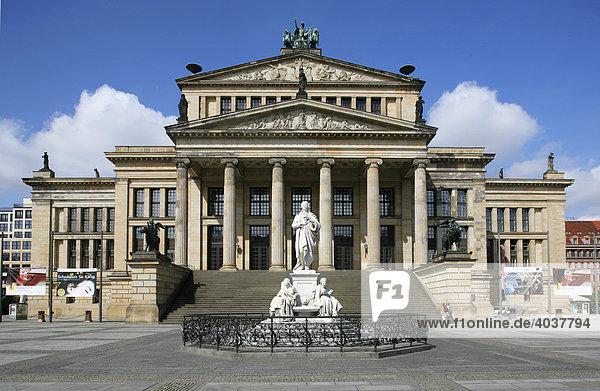 Das Konzerthaus am Gendarmenmarkt  Berlin-Mitte  Deutschland  Europa