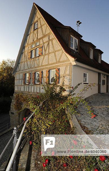 Fachwerkhaus in Marbach am Neckar  Baden-Württemberg  Deutschland  Europa