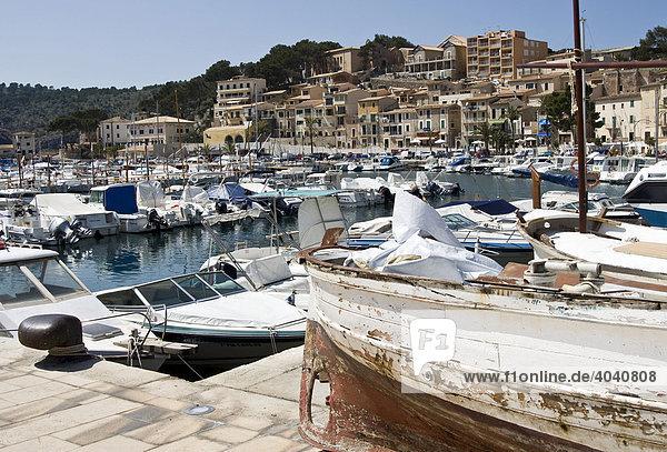 Jachthafen von Puerto de Soller  Mallorca  Balearen  Spanien  Europa