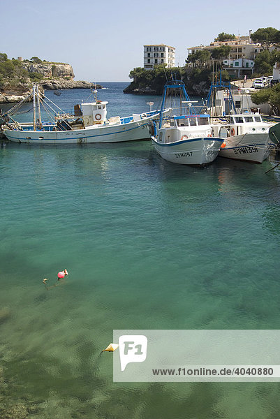 Bucht von Cala Figuera  Mallorca  Balearen  Spanien  Europa