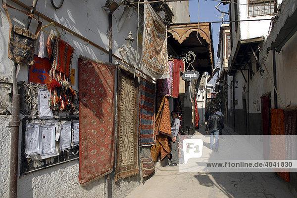 Teppichgeschäft in der Altstadt von Damaskus  Syrien  Naher Osten  Asien