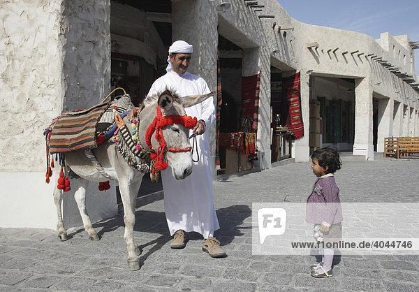 Alter Souk  Souq Waqif  ältester Markt in der Stadt  Doha  Qatar  Katar  Naher Osten