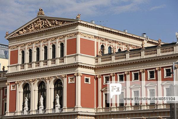 Musikverein  Gesellschaft der Musikfreunde  Wien  Österreich  Europa