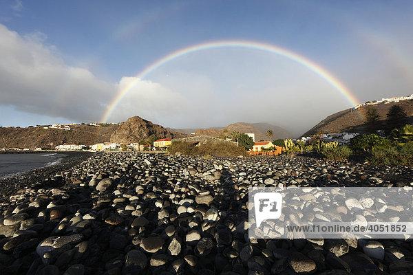 Regenbogen in Playa de Santiago  La Gomera  Kanaren  Kanarische Inseln  Spanien  Europa