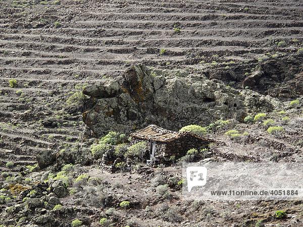 Einsames traditionelles Bauernhaus in Seima  La Gomera  Kanarische Inseln  Kanaren  Spanien  Europa