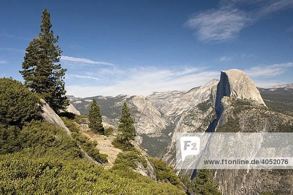 Half Dome vom Glacier Punkt  Yosemite Nationalpark  Kalifornien  USA