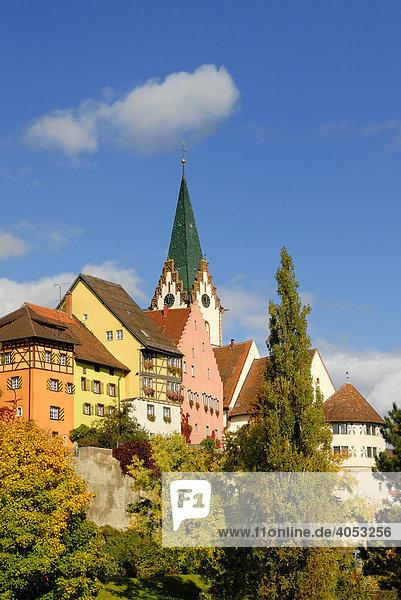Blick auf die Altstadt von Engen  Landkreis Konstanz  Baden-Württemberg  Deutschland  Europa.
