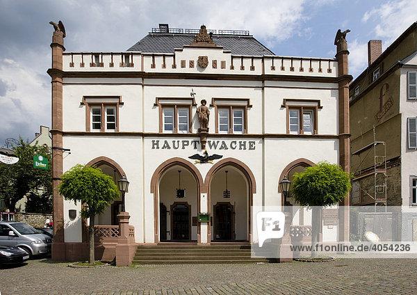 Historische Innenstadt mit der Hauptwache am Domplatz  Wetzlar  Hessen  Deutschland  Europa