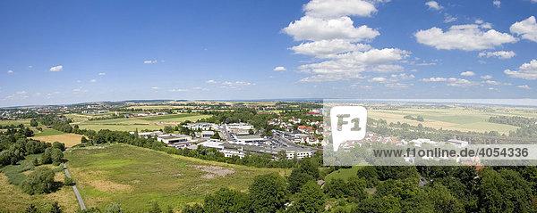 Blick in die Wetterau mit den Orten Wölfersheim  Echzell  Reichelsheim  Dornheim  Hessen  Deutschland