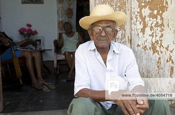 Alter Kubaner  Kuba  Lateinamerika  Amerika